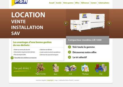 Site web PSH Hydrolique