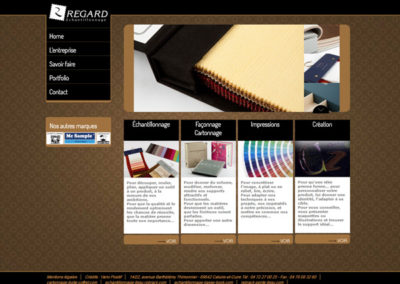 Site web Regard échantillonneur