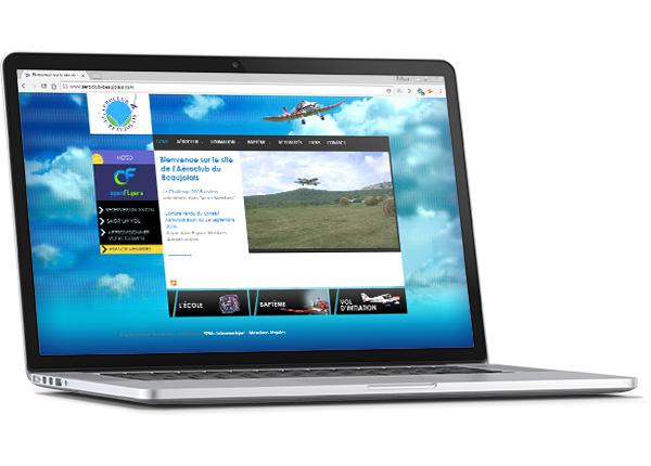 Site web de l'aéroport du Beaujolais